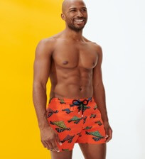 Men Stretch classic Printed - Men Swimwear Stretch Turtle Swim, Medlar frontworn