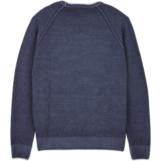 Men Others Solid - Men Wool Crewneck, Navy back