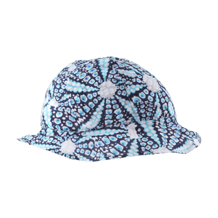 Others Printed - Kids Cotton Voile Hat Oursinade, Navy front
