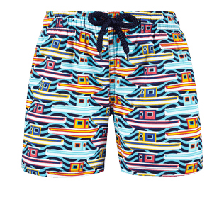 Boys Others Printed - Boys Stretch swimtrunks Mykonos, Tropezian blue front