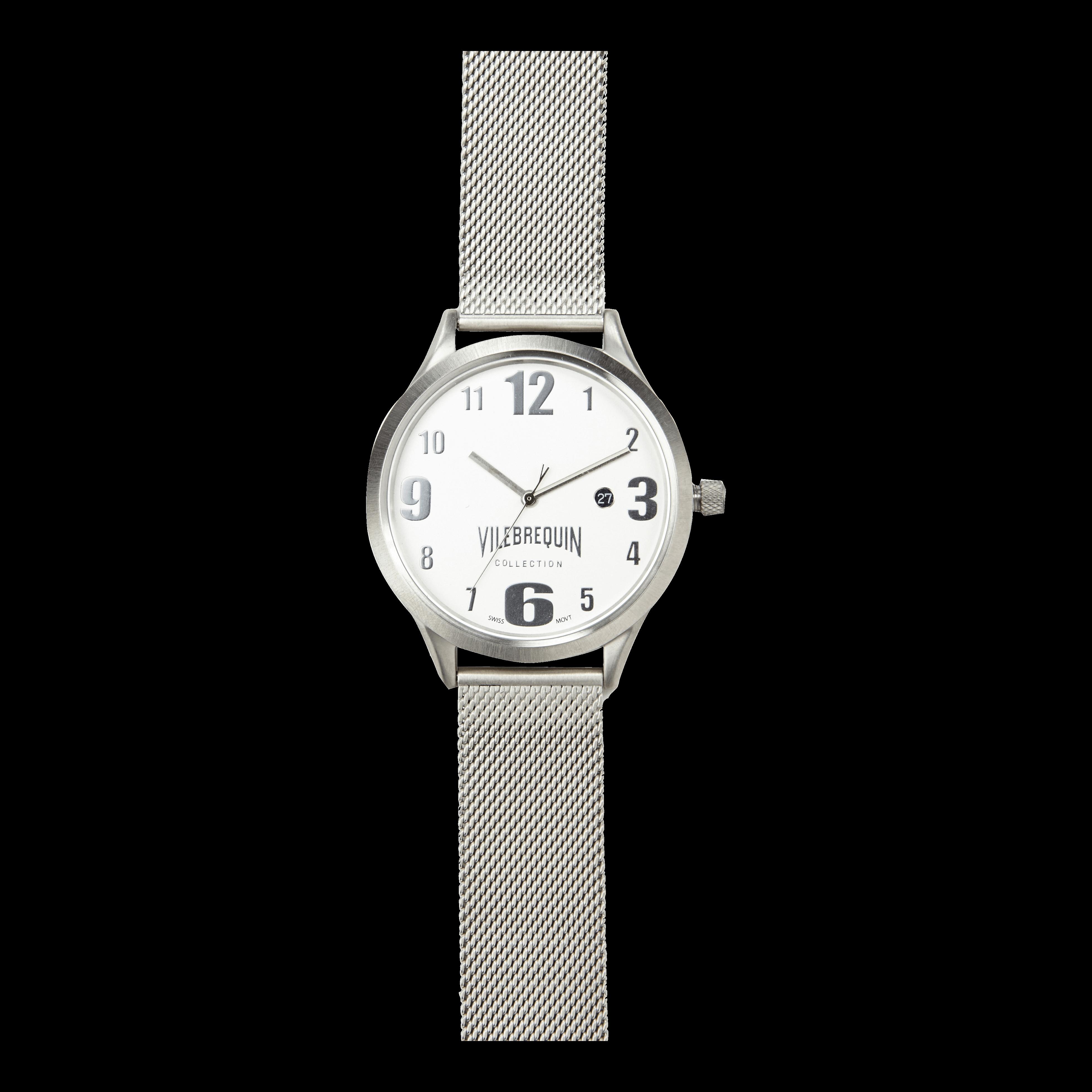 ACCESSOIRE UNISEXE ADULTE - Metal Mesh Silver Watch - MONTRE - METMESH - Gris - TU - Vilebrequin