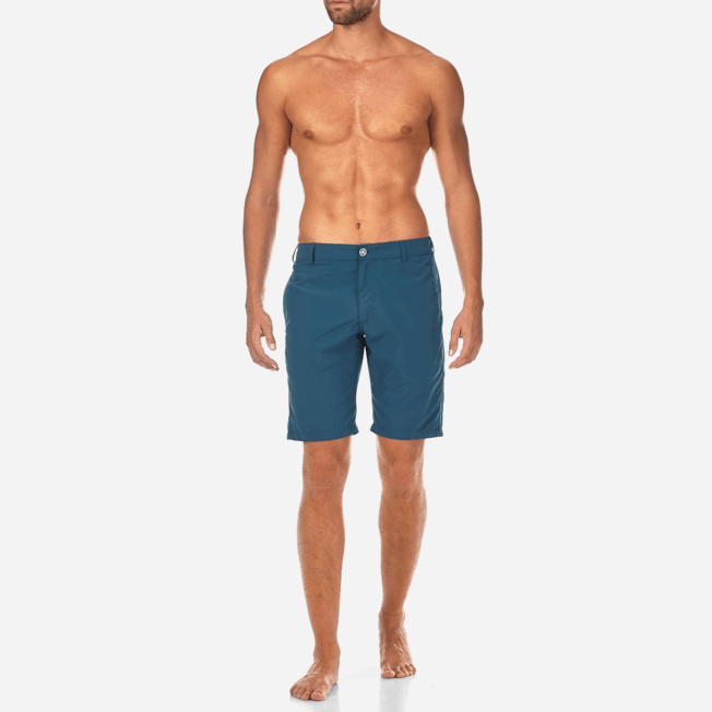 Vilebrequin - Bermudas rectas en tejido de bañador con estampado liso para hombre - 3
