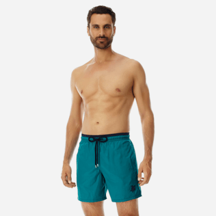 Men Ultra-light classique Solid - Men Ultra-Light and packable Swimwear Solid Bicolor, Pine wood frontworn