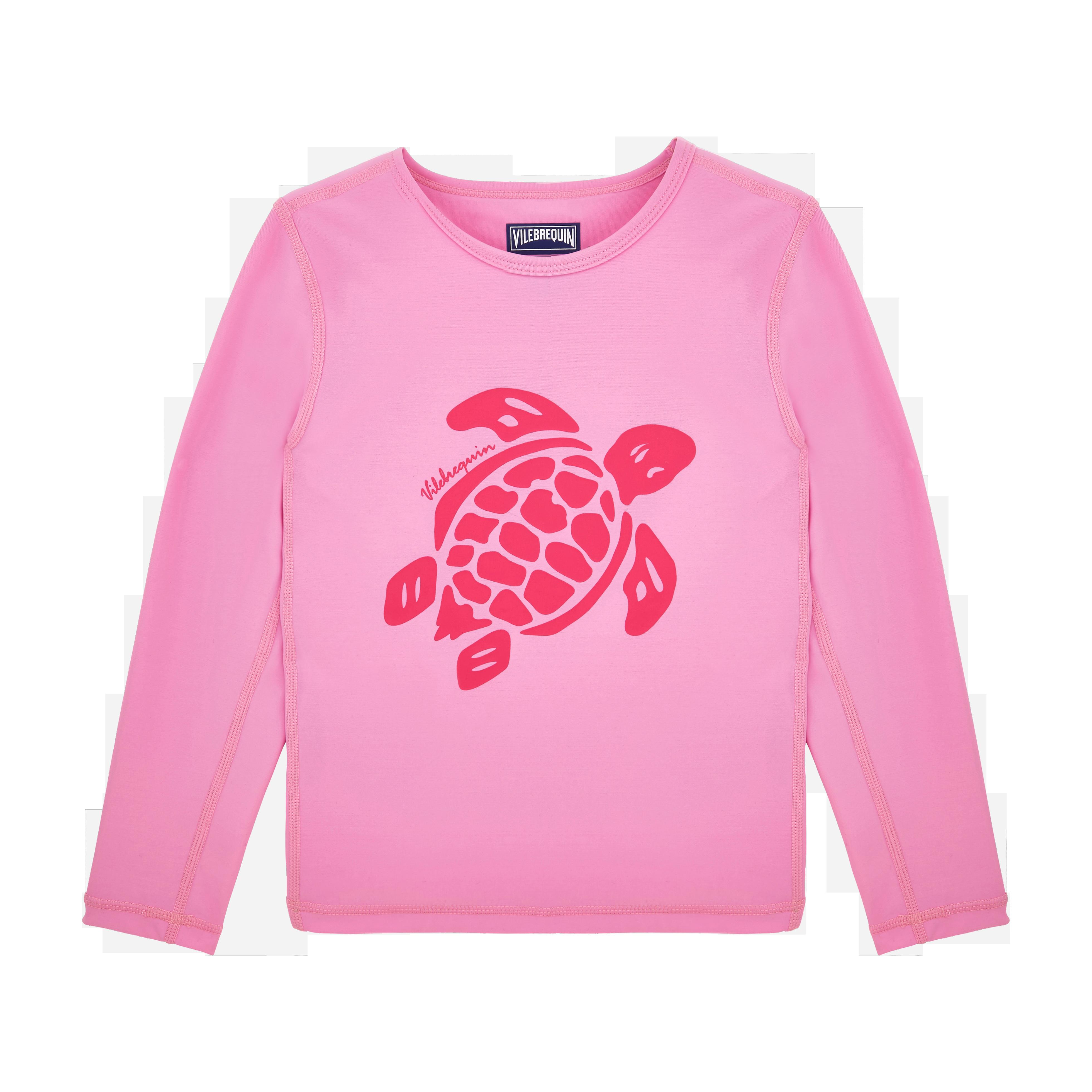 VILEBREQUIN | PAP UNISEXE ENFANT - Kids Long Sleeves Rashguards Solid - TEE SHIRT - GATUV - Pink - 14 - Vilebrequin | Goxip