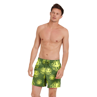 Men Ultra-light classique Printed - Men Swimtrunks Ultra-light and packable Poulpes, Sycamore frontworn