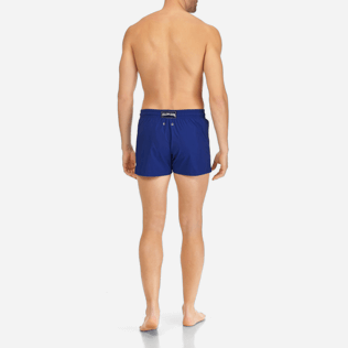Men Short classic Solid - Men Short and Fitted Stretch Swimwear Solid, Neptune blue backworn