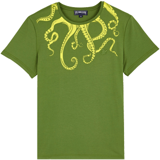 Men Others Printed - Men Cotton T-Shirt Octopussy, Sycamore front