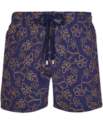 Men Classic Embroidered - Men Swim Trunks Embroidered 1996 Gilbert Tropic - Limited Edition, Sapphire front