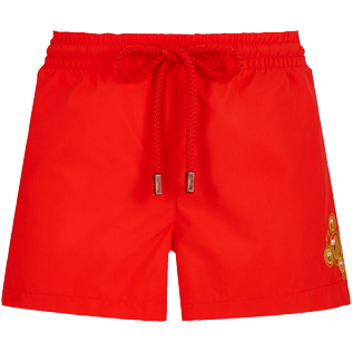 Women Others Embroidered - Women Swim Short Crackers, Medicis red front