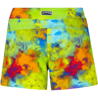 Damen Andere Bedruckt - Holi Party Stretch-Badeshorts für Damen, Batik blue back