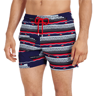 Men Stretch classic Printed - Men Swimtrunks Stretch VBQ Cruise Lines, Midnight blue supp1
