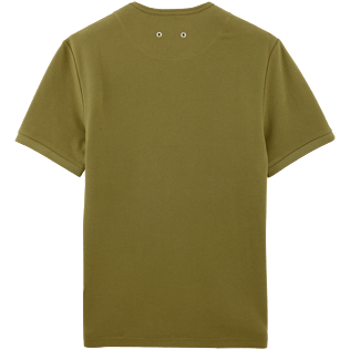Men Tee-Shirts Solid - Solid Round neck cotton pique Tee-Shirt, Khaki back