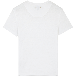 Men Others Solid - Men Linen Jersey T-Shirt Solid, White back