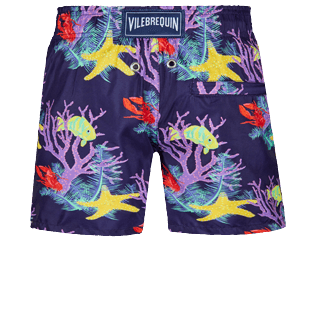 Boys Others Printed - Boys Swim Trunks Fonds Marins, Sapphire back