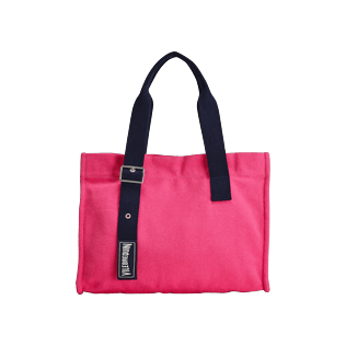 Others Solid - Small Cotton Beach Bag Solid, Gooseberry red front