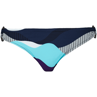 Women Classic brief Printed - Women asymetrical brief bikini Bottom Ostende, Navy front