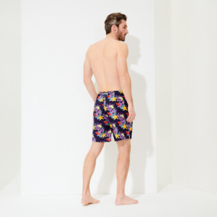 Men Long classic Printed - Men Swim Trunks Long Ultra-light and packable Fonds Marins, Sapphire backworn