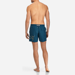 Men Classic / Moorea Embroidered - Sunny Dog Embroidered Swimshort, Spray backworn