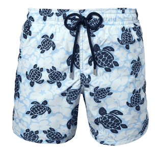 Men Classic / Moorea Printed - Men Swimwear Tortues Hawai - WEB EXCLUSIVE, Sky blue front