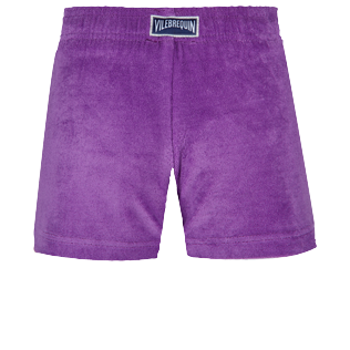Girls Others Solid - Girls Terry Cloth Shortie Solid, Orchid back