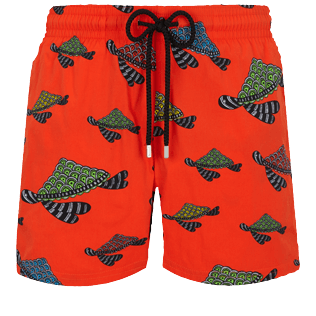 Uomo Classico stretch Stampato - Men Stretch Swimwear Turtle Swim, Nespola front