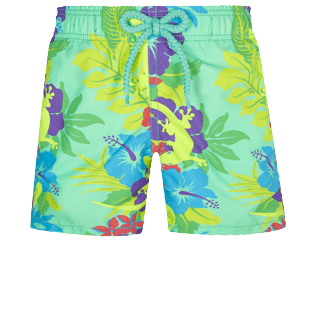 Boys Others Printed - Boys Swim Trunks Les Geckos, Cardamom front