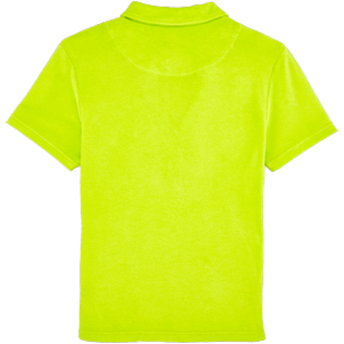 Women Others Solid - Women Terry Cloth Polo shirt Solid, Chartreuse back