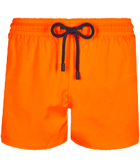 Men Short classic Solid - Men Swim Trunks Short and Fitted Stretch Solid, Apricot front