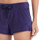 Women Others Solid - Women Terry cloth shortie Solid, Midnight blue supp1