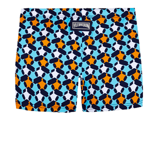 Boys Others Printed - Boys Swim Trunks Boxer Cuts Turtle Stars, Navy back