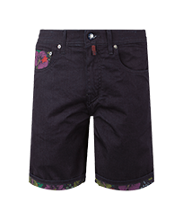 Uomo Altri Stampato - Bermuda uomo Tropical Turtles, Dark denim w1 front