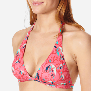 Women Halter Printed - Women Bikini Halter Top Turtles Song, Cherry blossom supp1