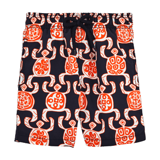 Boys Others Printed - Primitive Turtles Swim Shorts, Navy front