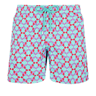 Men Classic Printed - Men Swim Trunks Data Turtles, Cherry blossom front