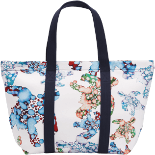 AUTRES Imprimé - Grand Sac de Plage Watercolor Turtles, Blanc back