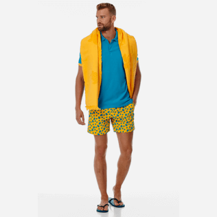 Men Classic Printed - Men Swimwear Flocked Micro Ronde Des Tortues, Mango supp2