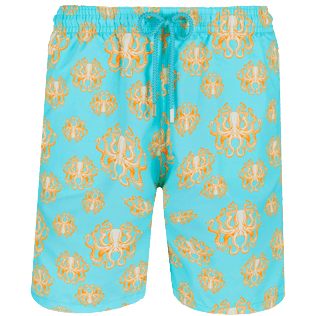 Men Long classic Printed - Men Swimtrunks Long Poulpes, Lagoon front