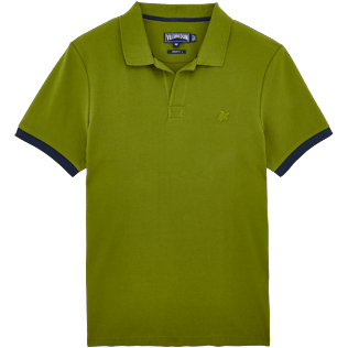 Men Others Solid - Men Cotton Pique Polo shirt Solid, Moss front