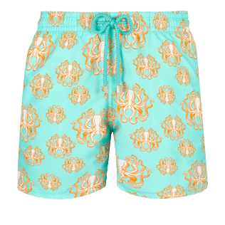 Men Classic Printed - Men Swimwear Poulpes, Lagoon front