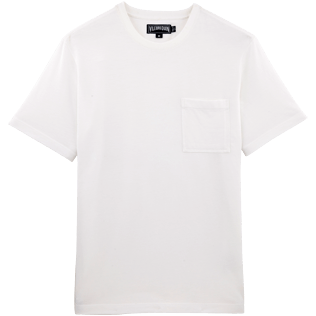 Men Tee-Shirts Solid - Solid Round neck T-Shirt in Pima Cotton, White front