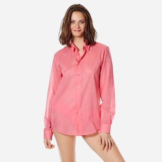 Others Solid - Unisex Cotton Shirt Solid, Cherry blossom supp3