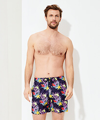 Men Ultra-light classique Printed - Men Swimwear Ultra-light and packable Fonds Marins, Sapphire frontworn