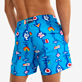 Men Classic Printed - Men Swimwear Totem - Vilebrequin x JCC+ - Limited Edition, Swimming pool backworn