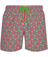 Men Classic Printed - Men Swim Trunks Indian Ceramic, Pink berries front