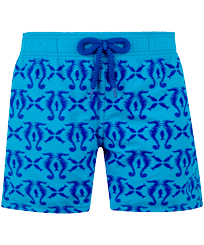 Boys Others Printed - Boys Swim Trunks Flocked Hippocampes, Swimming pool front