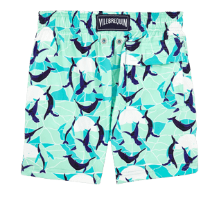 Boys Others Printed - Boys Stretch Swimwear Magic Whales, Lagoon back