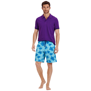 Men Long classic Printed - Men Swim Trunks Long Stretch Tortues Hawaï - Web Exclusive, Celestial supp2