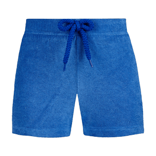 Girls Others Solid - Girls Terry Cloth Shortie Solid, Sea blue front