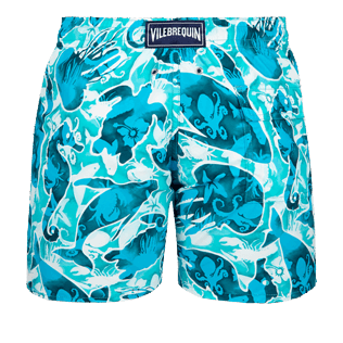 Men Classic Printed - Men swimtrunks Double Focus - Web Exclusive, Mint back