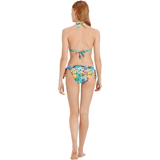 Mujer Braguitas Estampado - Braguitas de bikini atadas en los laterales con estampado Jungle para mujer, Midnight blue backworn